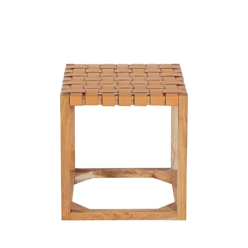 MARILOU Shop Stools Cross Stool Leather