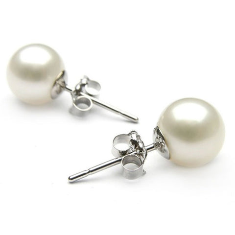 Freshwater Cultured Button Pearl Earrings