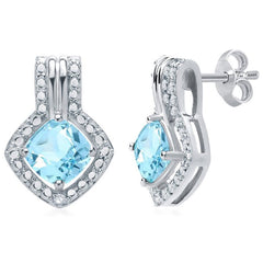 Blue Topaz and Diamond 3 pc Set