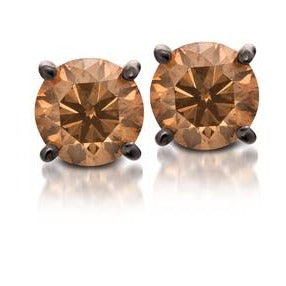 Le Vian Strawberry Gold Earrings with Chocolate Diamonds 1/2 cts.