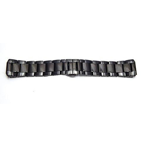 Philip Stein Black Plated Brush Watch Band 3-SSBP