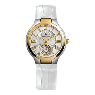 Philip Stein Signature Round 36mm Small Two Tone Ladies Watch 41TG-CWG