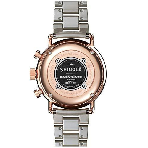 Shinola The Canfield Quartz Movement White Dial Ladies Watch S0120089884