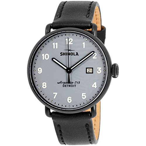 Shinola The Canfield Quartz Movement Grey Dial Men's Watch S0120155381