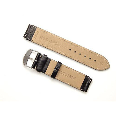 Philip Stein Black Stitch Calf Leather Watch Band