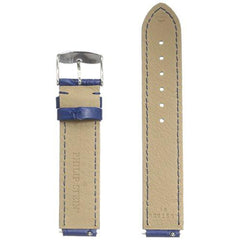 Philip Stein 1-CSTABL 18mm Leather Calfskin Blue Watch Strap