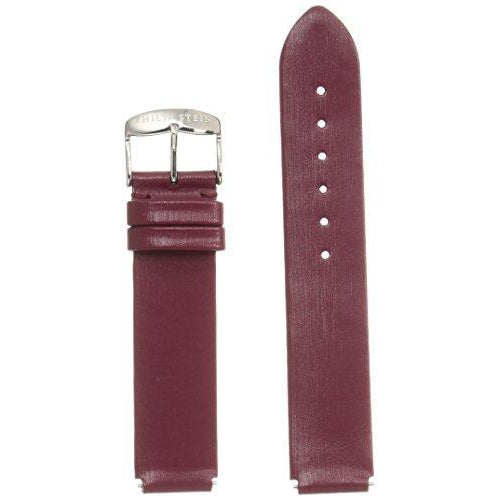 Philip Stein 1-IBG 18mm Leather Calfskin Red Watch Strap