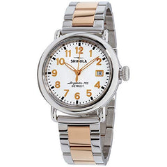 Shinola Detroit The Runwell 36mm - 20089898 Polished Stainless Steel/Pvd Rose Gold Bracelet/White Dial One Size
