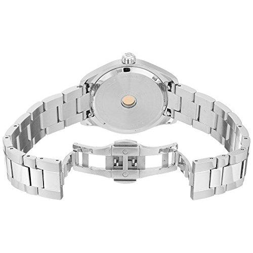 Philip Stein Women's Traveler Swiss-Quartz Watch with Stainless-Steel Strap, Silver, 8 (Model: 91-CPKMOP-SS)