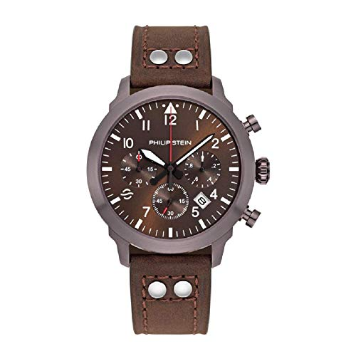Philip Stein Men's Skyfinder Chrono Watch- Model 700CBR-CRBR-CRSCH