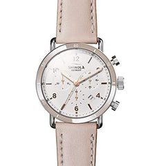 Shinola The Canfield White Dial Leather Strap Ladies Watch S0120089883