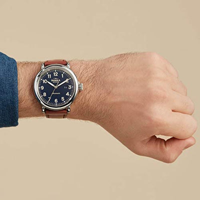 Shinola Detroit Runwell Automatic - 20141492 Midnight Blue Glossy Enamel Dial One Size