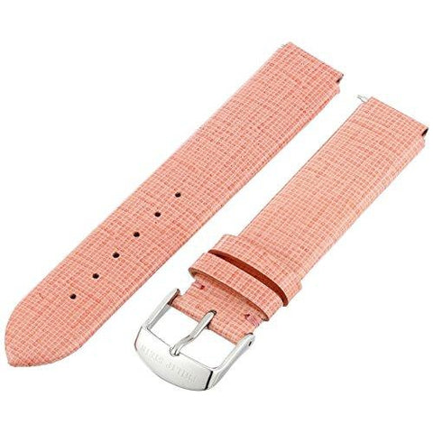 Philip Stein 1-CSWRO 18mm Leather Calfskin Pink Watch Strap