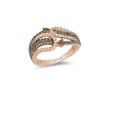 Le Vian Strawberry Gold® Ring with Chocolate Diamonds® 1/2 cts., Vanilla Diamonds® 1/3 cts.
