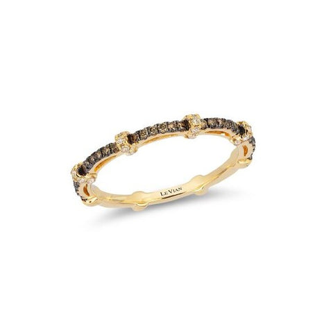 Le Vian Honey Gold Sleek Band with Chocolate Diamonds