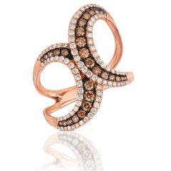 Le Vian Strawberry Gold® Ring with Chocolate Diamonds® 3/8 cts., Vanilla Diamonds® 3/8 cts.