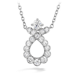 0.55 ctw. Aerial Regal Scroll Pendant in 18K White Gold