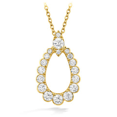 0.85 ctw. Aerial Regal Teardrop Pendant in 18K Yellow Gold
