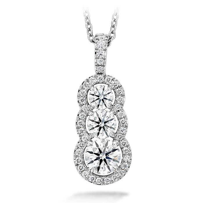 Aurora Pendant in 18K White Gold