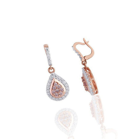 KARAH Pink Diamond Teardrop Earrings
