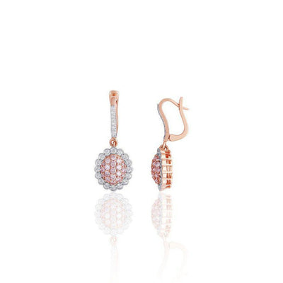 KARAH Pink Diamond Drop Earrings