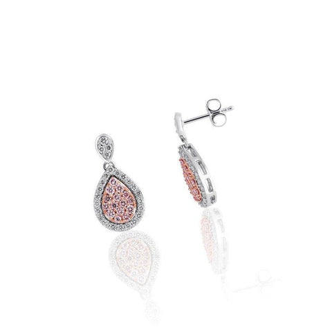 KARAH Pear-Shape Pink Diamond Earrings