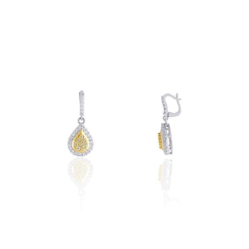 KARAH Yellow Diamond Teardrop Earrings - ShopMilano