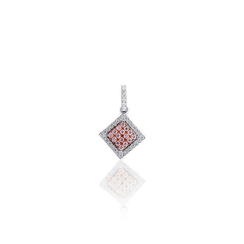 KARAH Pink Diamond Side Square Pendant