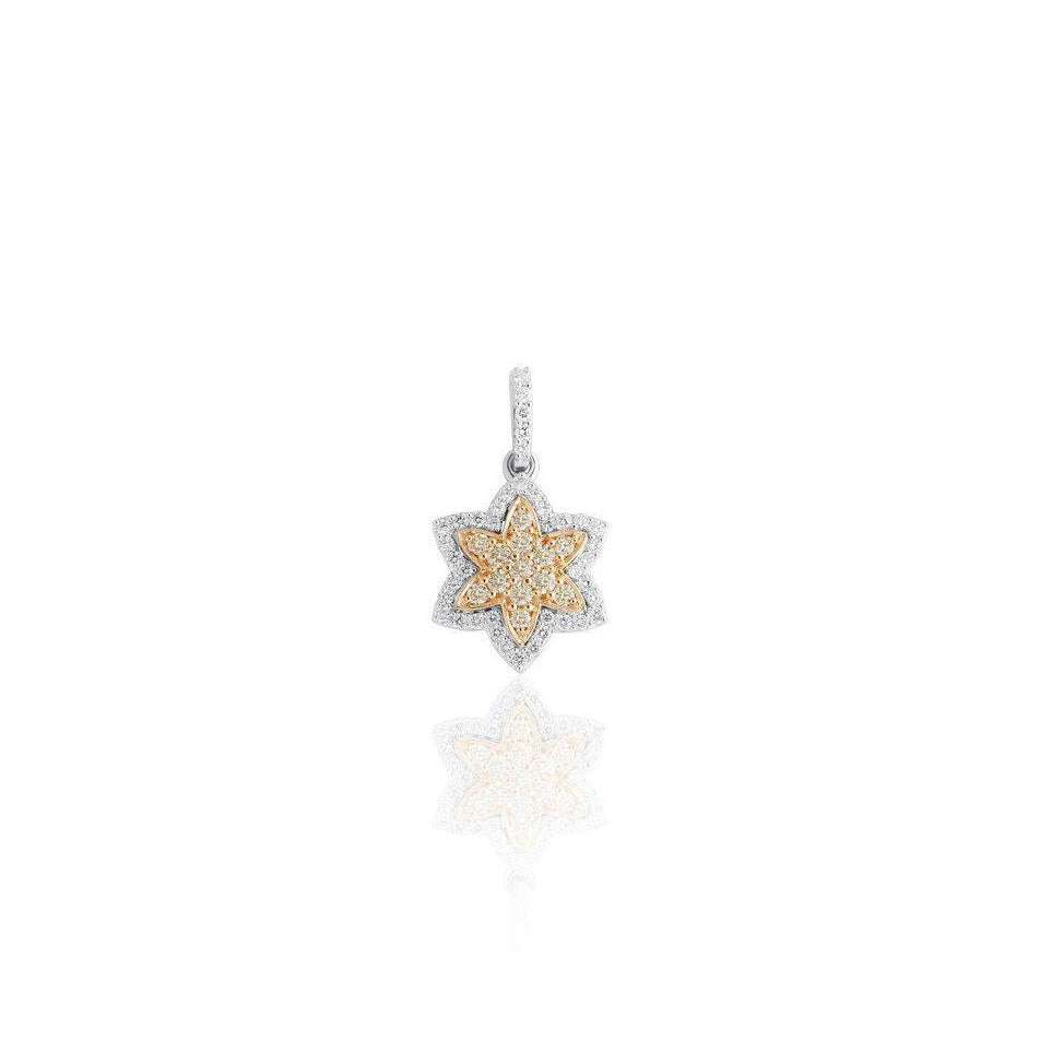 KARAH Petite Star Yellow Diamond Pendant