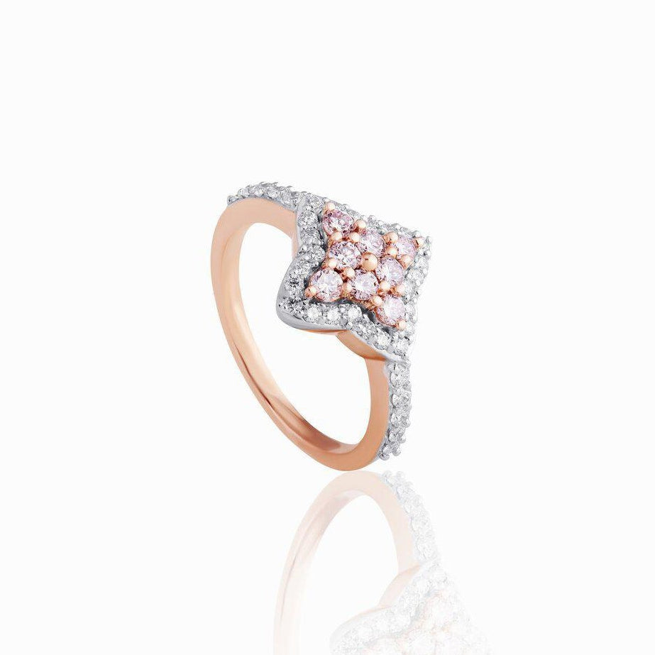 KARAH Star Modified Pink Diamond Ring