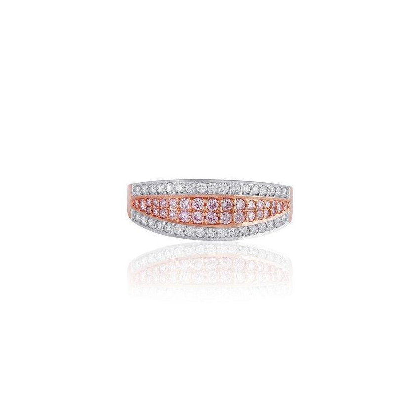 KARAH 4 Layer Pink & White Diamond Band