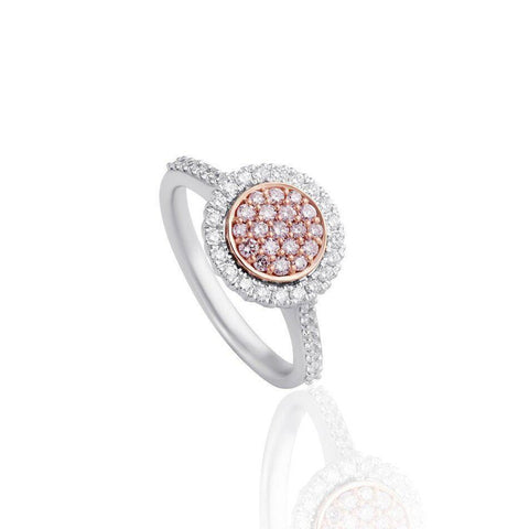 KARAH Pink Diamond Halo Cluster Ring
