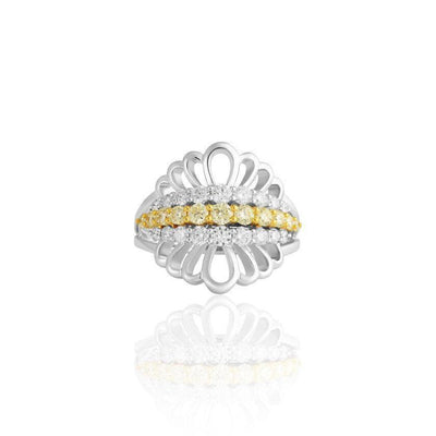 KARAH Art Deco Yellow Diamond Ring