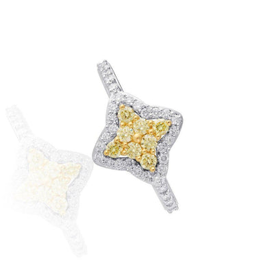 KARAH Star Modified Yellow Diamond Ring