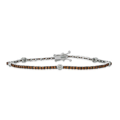 Le Vian Vanilla Gold Chocolate and Vanilla Tennis Bracelet
