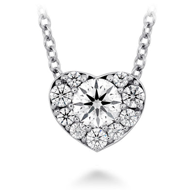 0.45 ctw. Fulfillment Heart Pendant in 18K White Gold