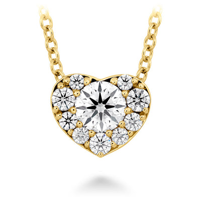0.45 ctw. Fulfillment Heart Pendant in 18K Yellow Gold