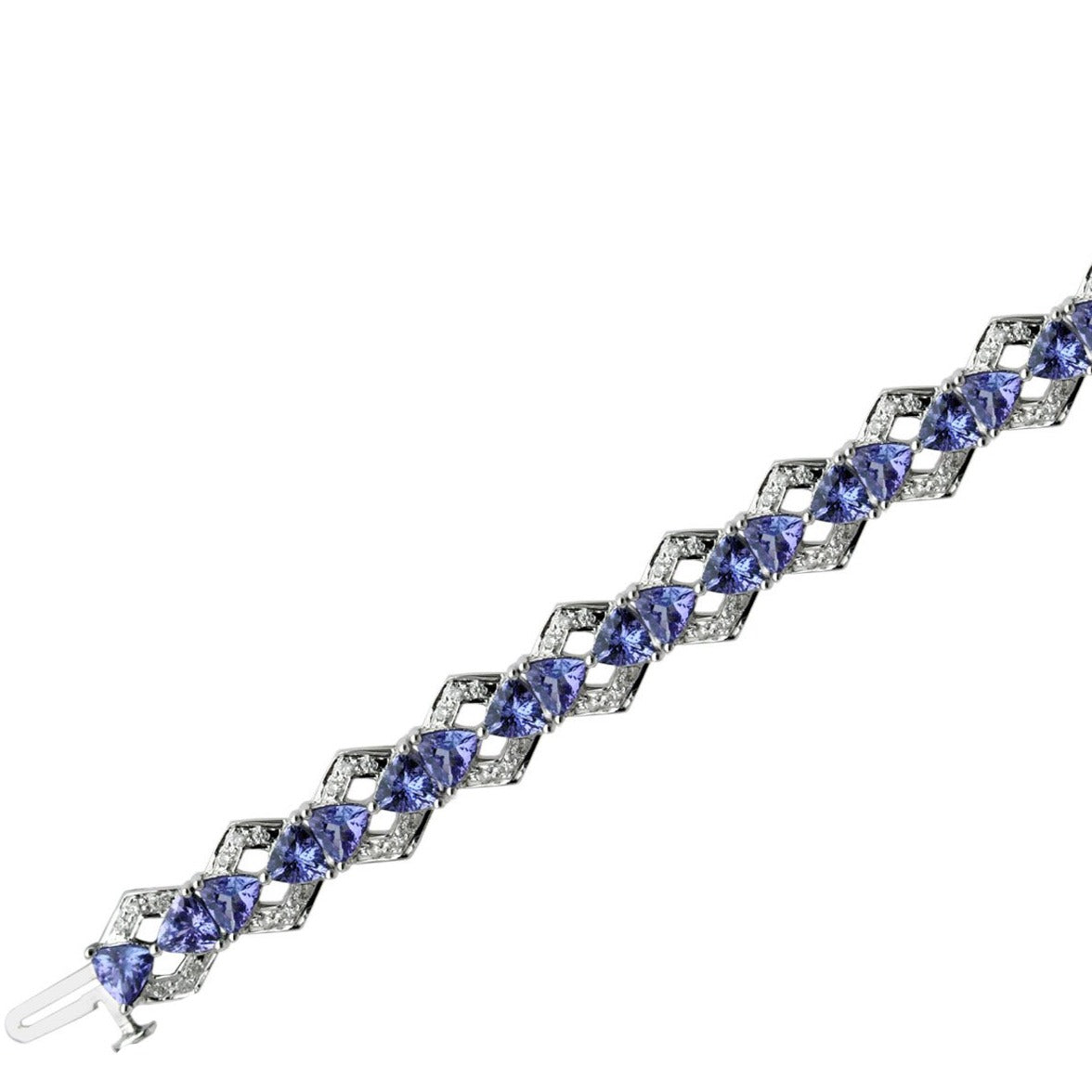Marquise Tanzanite and Diamond Bracelet