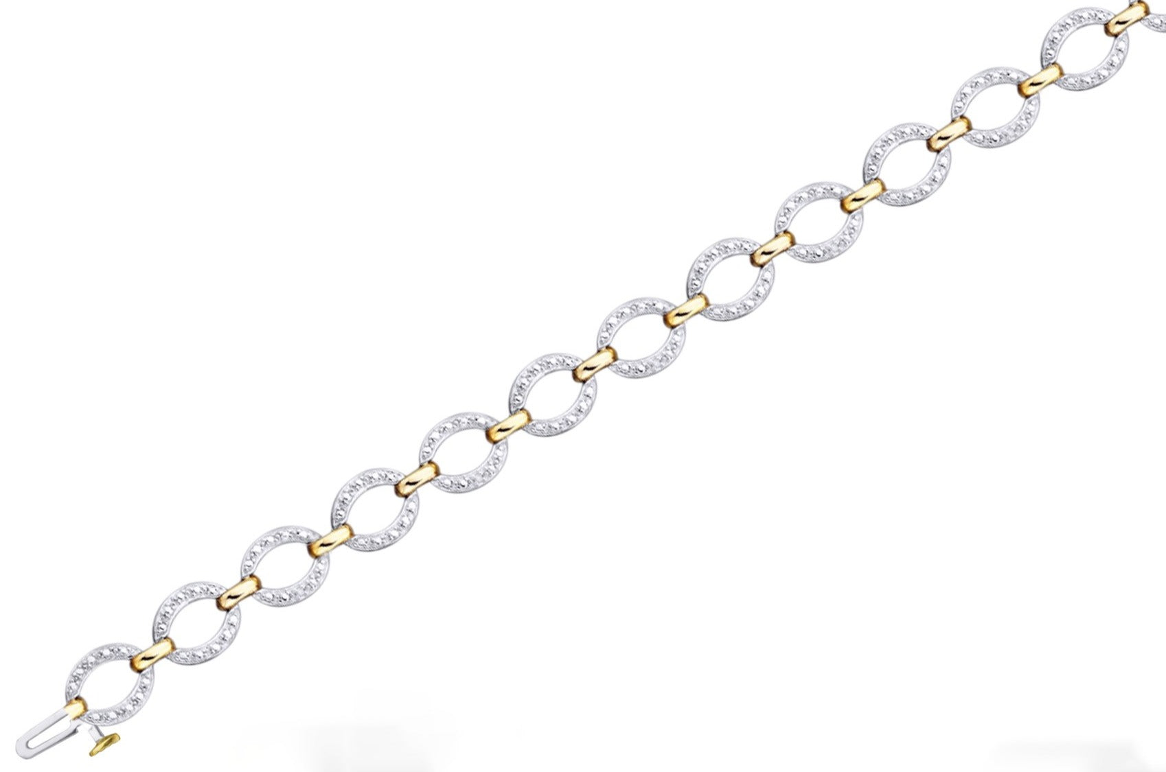 Oval Link Diamond Bracelet