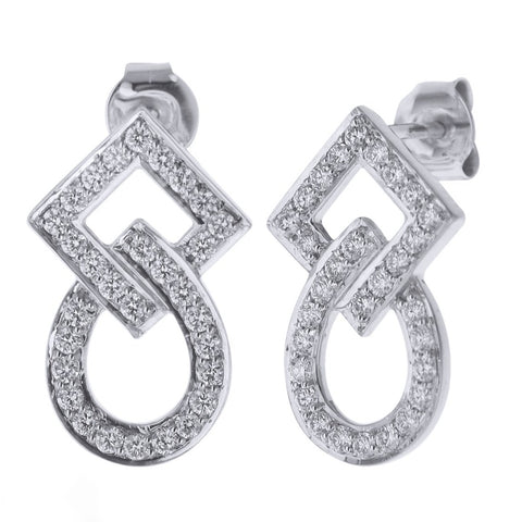 Geometric Shapes Diamond Earrings