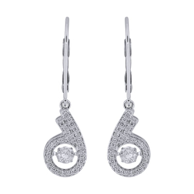 Dancing Diamond Hoop Earrings
