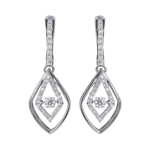 Double Drop Dancing Diamond Earrings