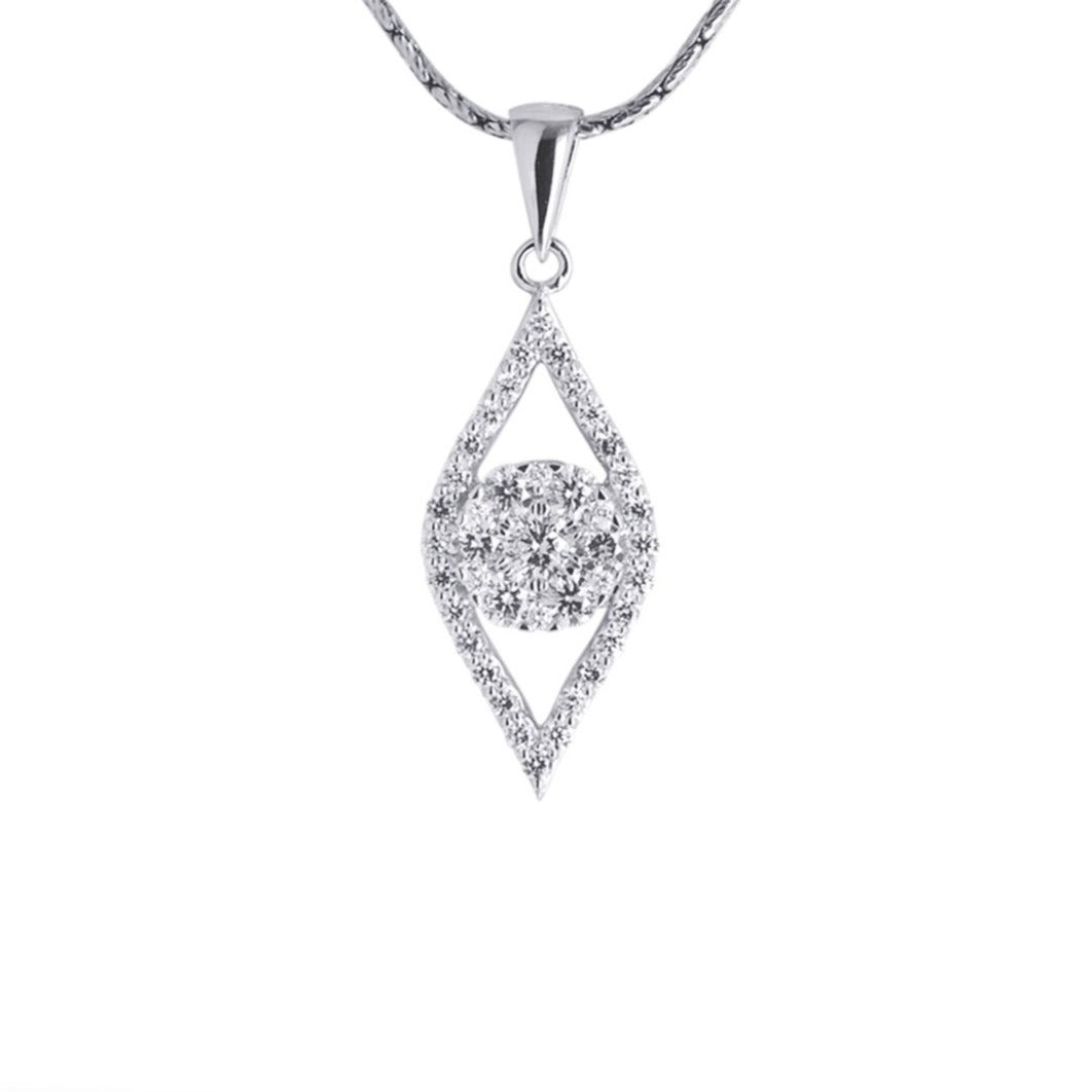 Marquis Shaped Cluster Diamond Pendant