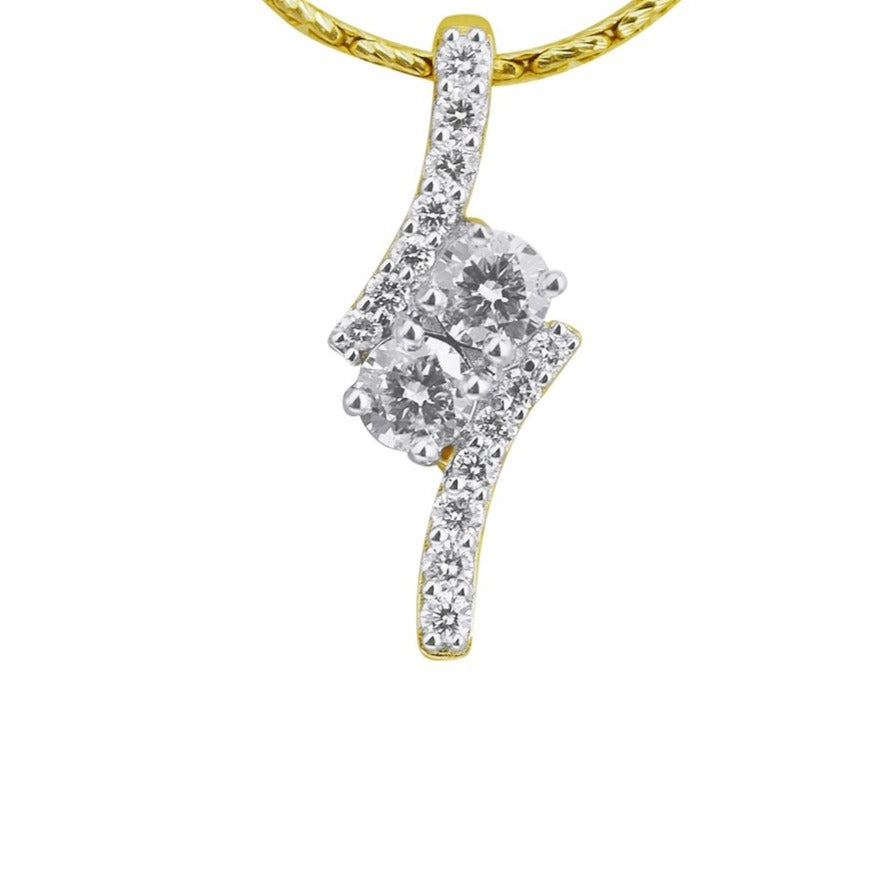 Two For Us Diamond Pendant
