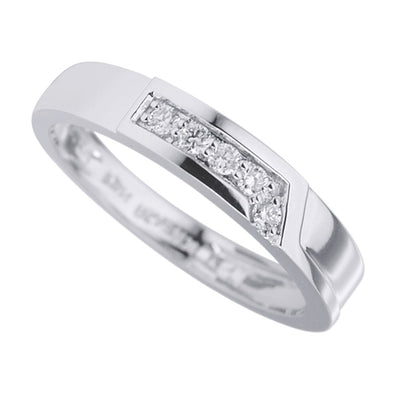 Men's Simple Diamond Band in 14K White Gold