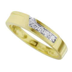 Men's Simple Diamond Band in 14K Yellow Gold