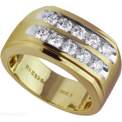 Two Row Men's Diamond Ring