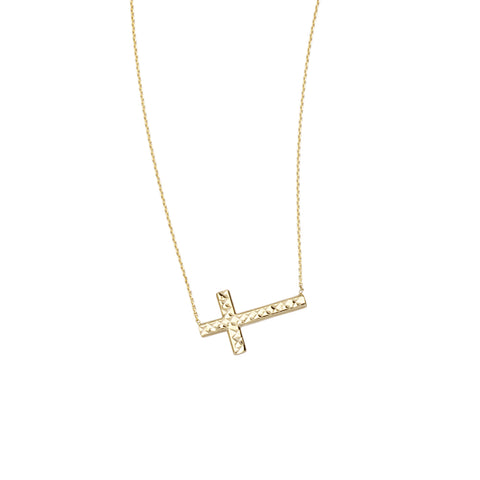 Reversible Sideways Cross Necklace