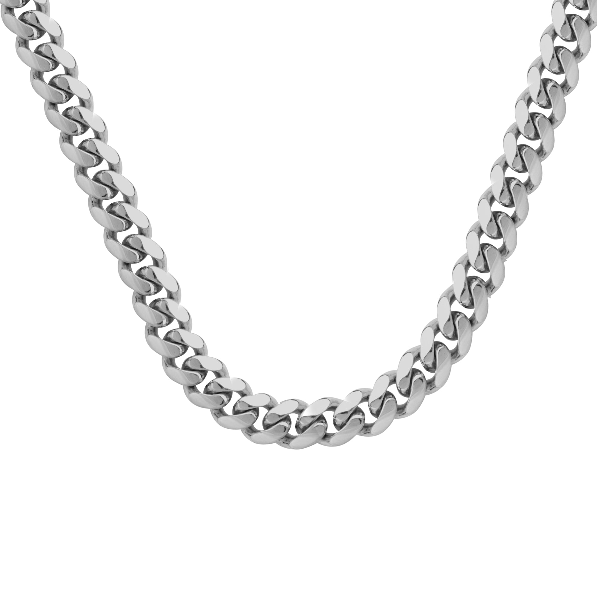 Sterling Silver Large Cuban Necklace