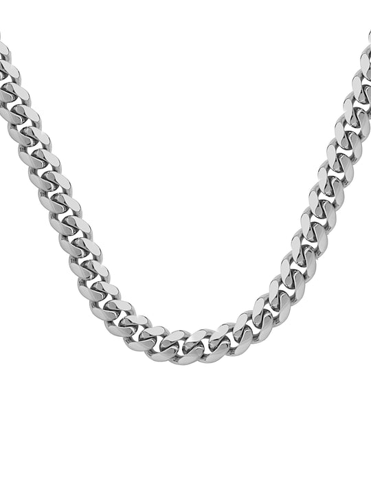 Sterling Silver Medium Cuban Necklace